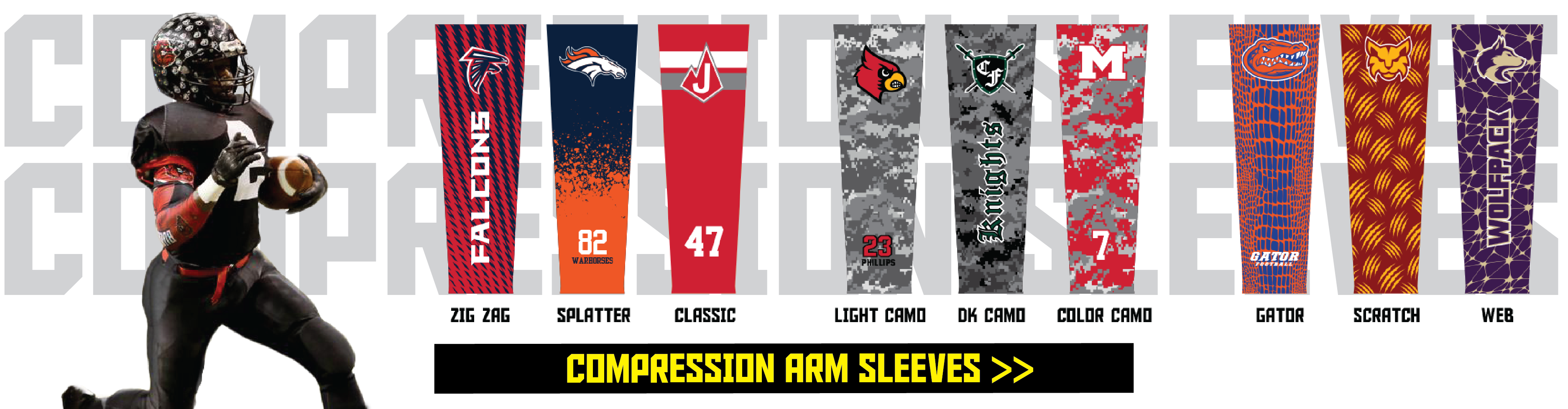 Custom Compression Sleeves Sublimated